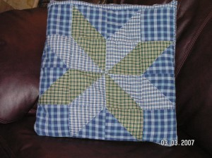 Quillo folded into Pillow {Click for sewing instructions} ~ from Me & My House