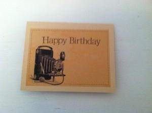 Simple Camera Card - from Me & My House