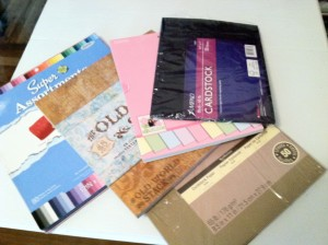 Paper Crafting Supplies: Card Stock - from Me & My House