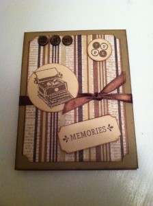 Typing Memories Card ~ from Me & My House