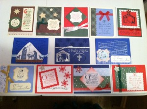 Handmade Christmas Cards ~ from Me & My House