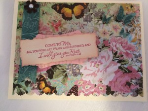 Floral and Butterflies Garden Encouragement Card ~ from Me & My House