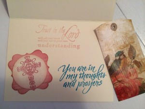 Bookmark tag & Encouragement Card inside ~ from Me & My House