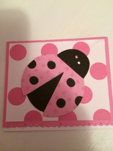 Little Girl's Polka Dot Lady Bug Card ~ from Me & My House