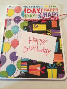 Colorful Kid's Birthday Card - from Me & My House