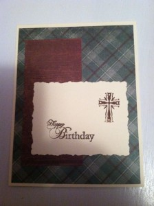 Simple, classic, Man's Birthday Card ~ from Me & My House