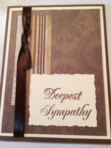 Sympathy card - masculine, simple, classic - from Me & My House