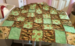Baby Boy's Rag Quilt ~ from Me & My House