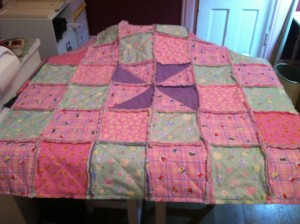 Baby Girl's Rag Quilt ~ from Me & My House