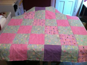Baby Girl's Rag Quilt {back} ~ from Me & My House