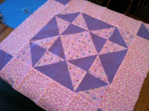 Ohio Star Baby Quilt ~ from Me & My House