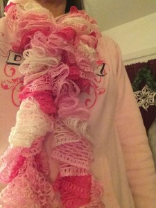 Chrocheted Ruffle Scarf ~ from Me & My House