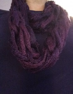 Amethyst Arm Knit Infinity Scarf ~ from Me & My House