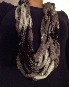 Panda Arm Knit Infinity Scarf ~ from Me & My House