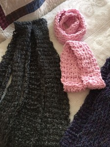 Tunisian Crochet Scarves ~ from Me & My House
