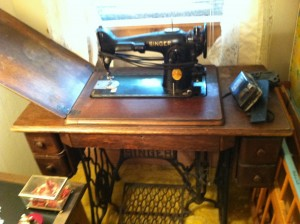 Singer 201 in Treadle Table ~ from Me & My House